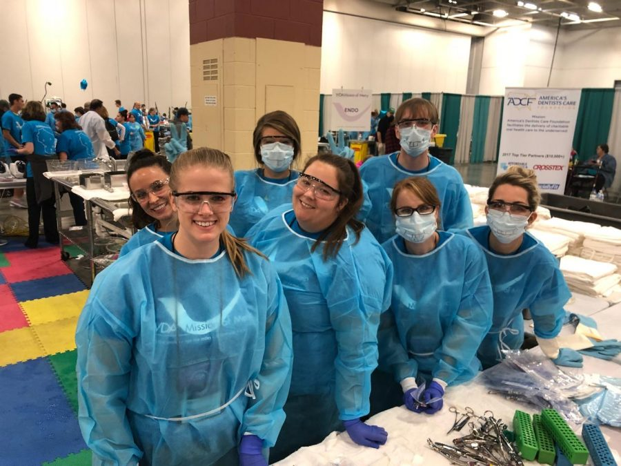 Marquette University dental students worked with individuals from the Wisconsin Dental Association to provide services valued at $1 million to those in need at the Mission of Mercy event. Photo via Wisconsin Dental Association.