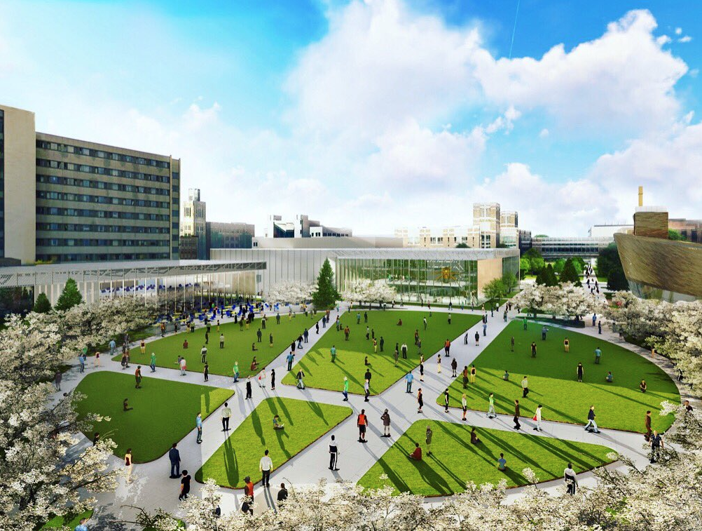 """""""North Common will establish an identifiable place for the Marquette and broader community to interact and gather,"""" Lora Strigens, vice president for planning and strategy, said. """"When developing the Campus Master Plan, the Marquette community was very clear that it valued green space. North Common provides an opportunity to increase that precious space on our urban campus."""