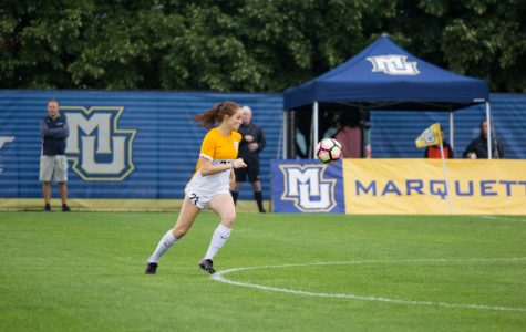 Redshirt senior Carrie Madden is the only Marquette player to have a goal this season.