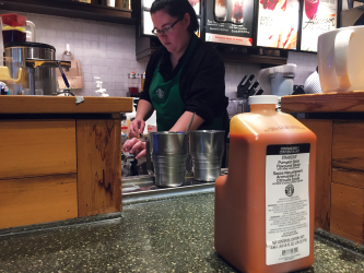 Pumpkin Spice Latte syrup often remains in stores long after autumn ends.