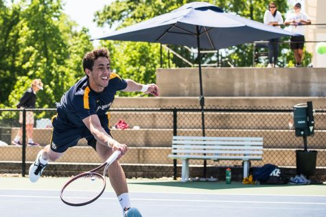 Men's and women's tennis close out seasons with a win