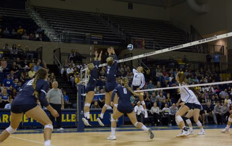 Volleyball falls in four sets to No. 3 BYU