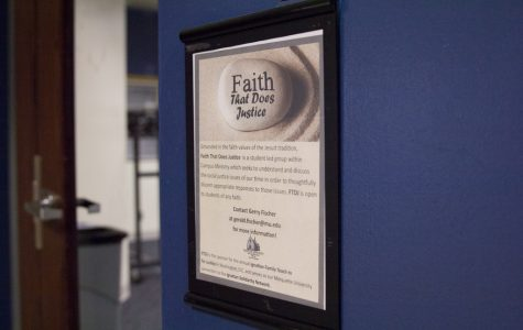 Faith That Does Justice plans to participate in issues involving justice in the Milwaukee area and on campus.