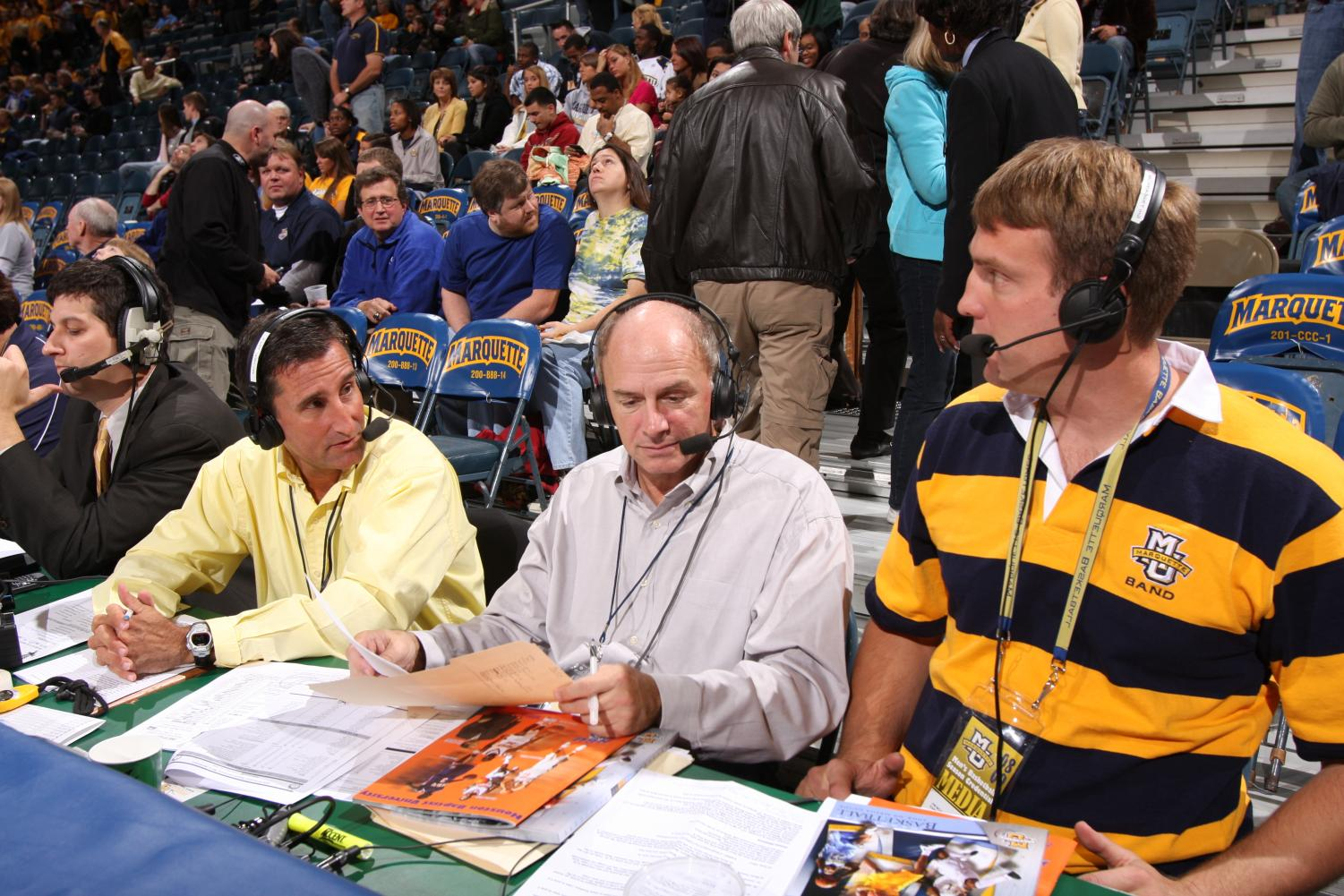 Jim McIlvaine started on the Marquette broadcasting team in 2003 and was the permanent color commentator since 2005. (Photo courtesy of Marquette Athletics)