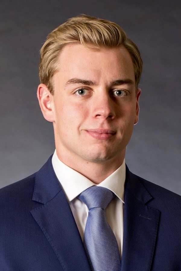 Clayton Boehm, senior in the College of Arts & Sciences, is president of the Blockchain Lab at Marquette.   Photo courtesy of Clayton Boehm.