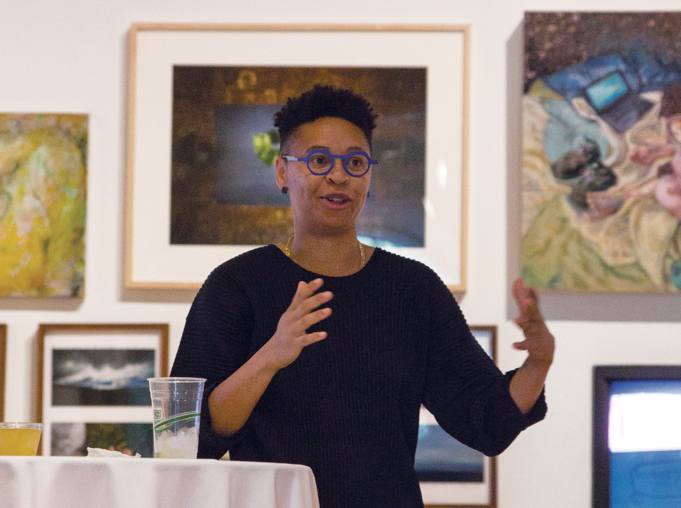 New York-based artist, Sable Elyse Smith, speaks about her experiences with the prison system and her exhibit.