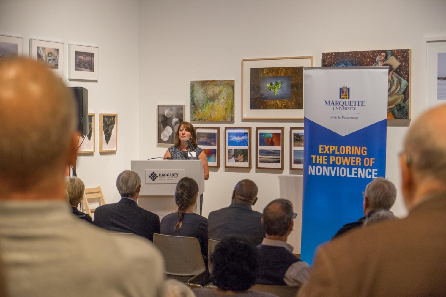 The Center for Peacemaking celebrated its 10-year anniversary  at the Haggerty Museum of Art.