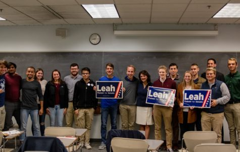 Sen. Republican candidate Leah Vukmir visited her alma mater on Oct. 16.