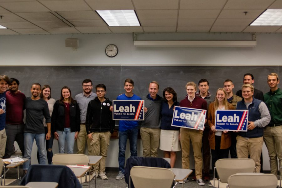 Sen.+Republican+candidate+Leah+Vukmir+visited+her+alma+mater+on+Oct.+16.+