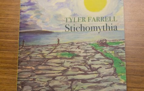 Tyler Farrell will read from his poetry book, Stichomythia, which was published in May.