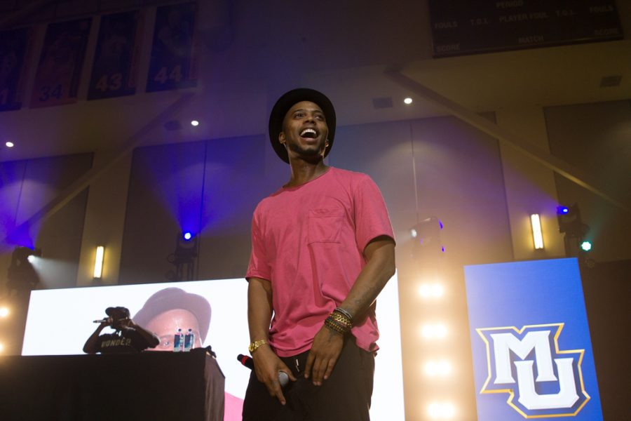 B.o.B rocked the Al McGuire Center Friday night as part of a new tradition to host a concert at Marquette Madness.