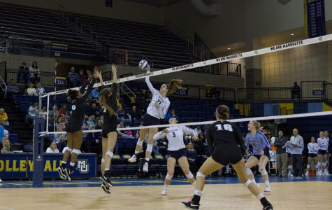 Volleyball bounces back with sweep of Providence