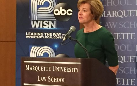 Sen. Baldwin, Vukmir discuss during Marquette Law School's US Senate debate