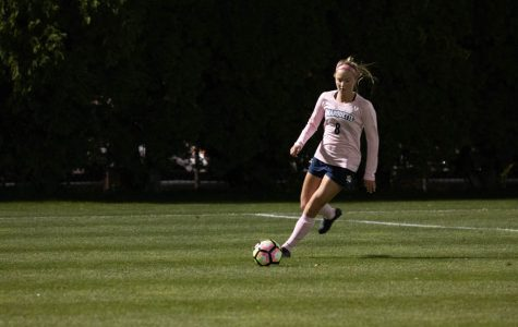 Sprecher goal, Henry's 10 saves not enough to outlast No. 4 Georgetown
