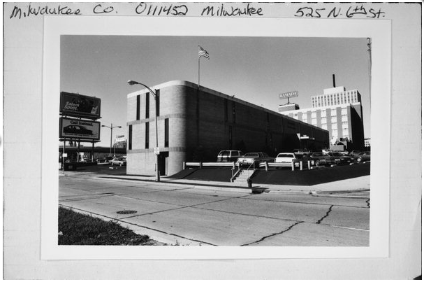 These+photos+%28circa+1950s%29+show+the+6th+St.+building%2C+built+in+1958%2C+with+the+hotel+in+the+background.+Photos+courtesy+of+the+Wisconsin+Historical+Society.
