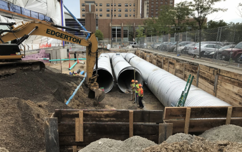 Stormwater collection system installed by new Athletic and Human Performance Research Center