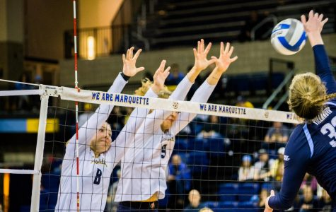 Volleyball wraps up weekend road trip, secures seventh consecutive BIG EAST sweep