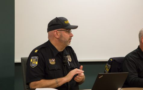 Capt. Jeff Kranz spoke at the MUPD Advisory Board meeting.