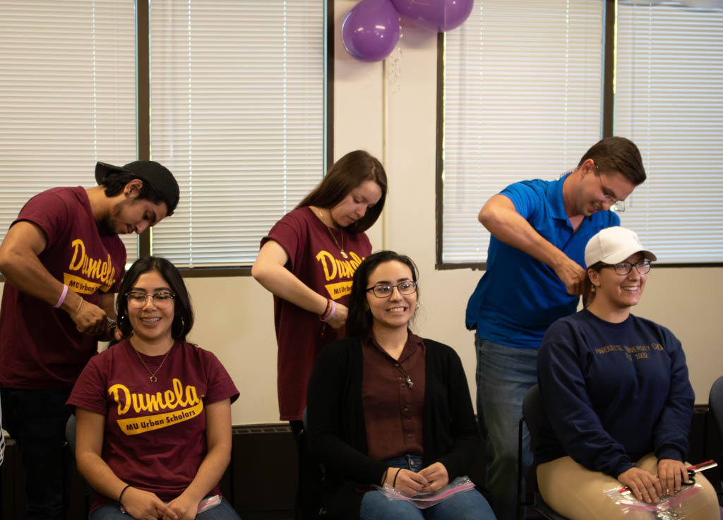 Students get their hair cut at the third annual Fortunate Choices event Oct. 4.