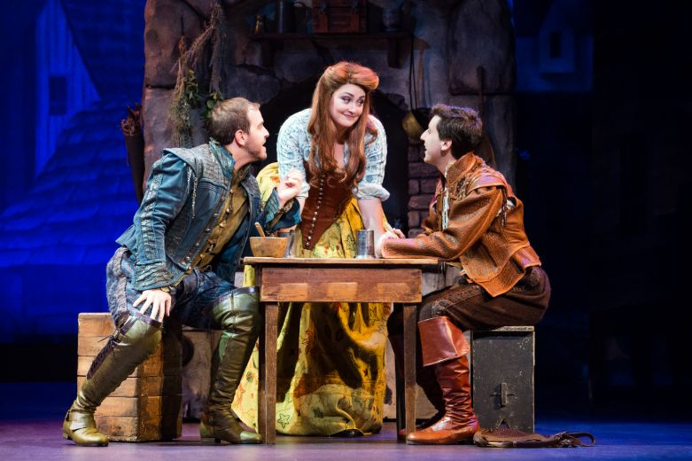 Emily Kristen Morris takes part in a scene on the National Tour of Something Rotten.