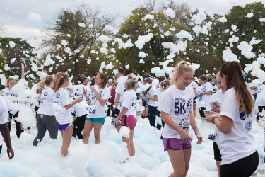 Last year's Homecoming Foam 5K was held on a Saturday morning in contrast to this year's Friday night event.