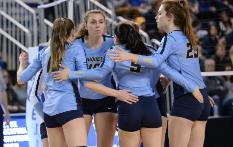Volleyball falls to No. 9 Creighton in four-set BIG EAST Championship match