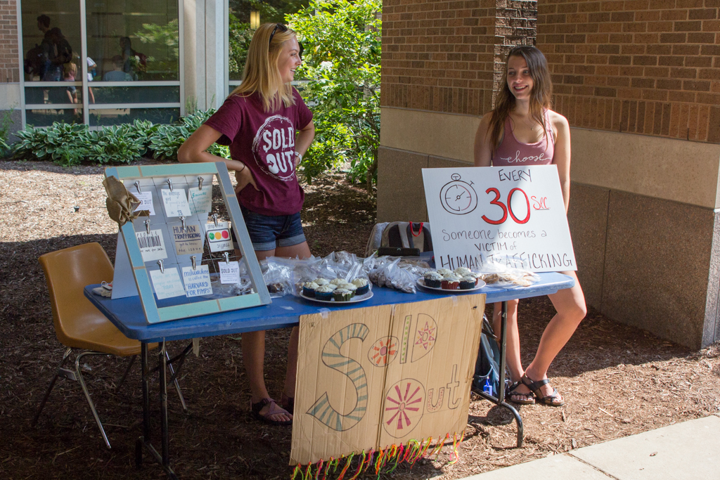 Sold Out, an on-campus advocacy group, raises awareness about human trafficking issues.