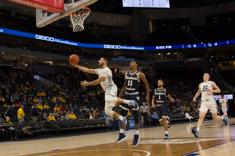 Bench scoring helps men's basketball win fourth game at Fiserv