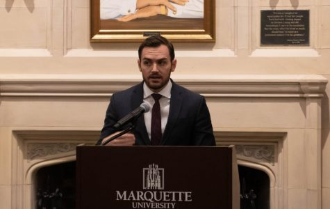 Rep. Gallagher visits Marquette and talks foreign policy