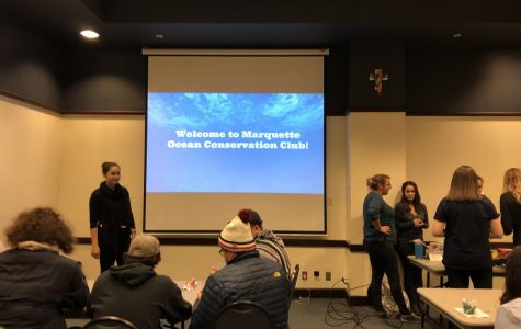 The Marquette University Ocean Conservation Club had their first meeting Nov. 15 in the Alumni Memorial Union. Photo by Margaret Cahill