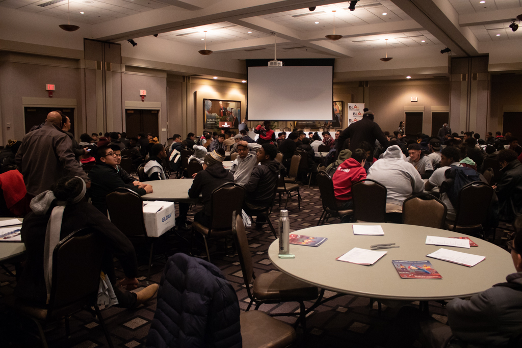 Nearly 250 young men of color attended a leadership conference at Marquette University.
