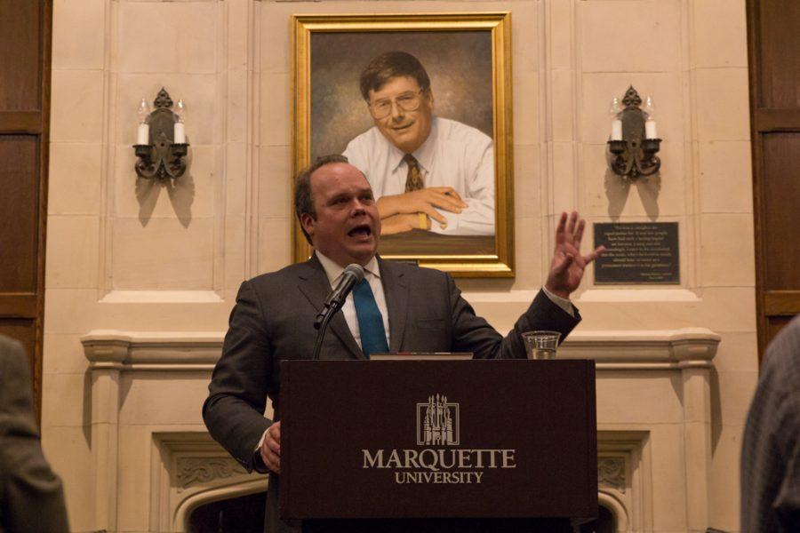 Chris Stirewalt visited Marquette on Dec. 3.