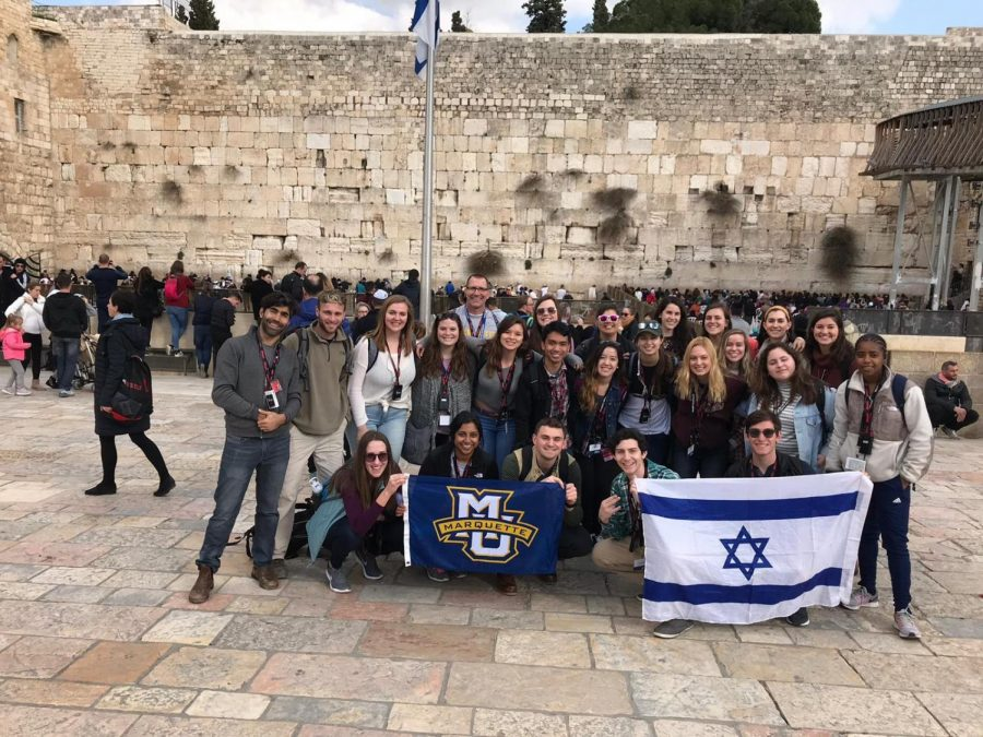 The Lutheran Campus Ministry and Cru, the Christian group at Marquette, arranged a trip to Israel over winter break.