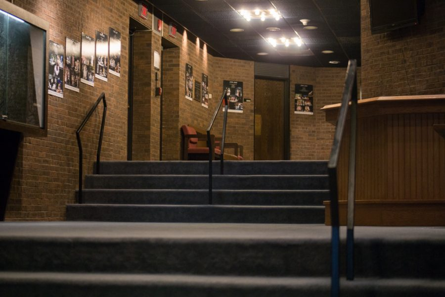 Lack of ramps and elevators in Helfaer Theatre causes accessibility problems for disabled students and staff.