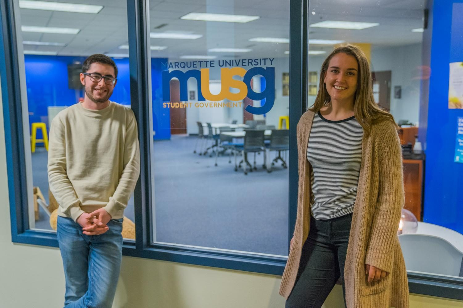 President Meredith Gillespie and Legislative Vice President Dan Brophy have three goals for MUSG this semester.