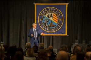 President Lovell at his presidential address last year.