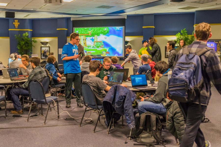 Marquette Gaming and E-Sports Club hosted a LAN Party at the AMU Saturday, where students played video games together.