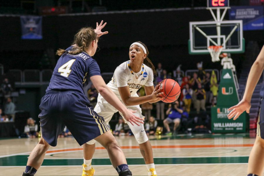 Blockton recorded 14 points in her final game as a sophomore in the Golden Eagles 68-65 loss to Quinnipiac University in the first round of the NCAA Tournament.