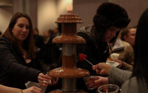 The annual event featured several chocolate fountains.