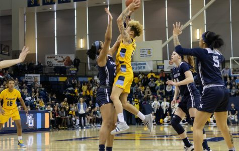 Women's basketball secures share of BIG EAST title
