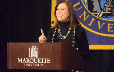 Joanne Lipman, former Editor in Chief for USA Today and best selling author, delivered a keynote address today in the Alumni Memorial Union.