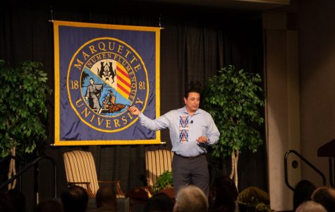 David Archambault visits Marquette during Mission Week