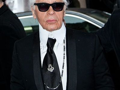Fashion icon, Karl Lagerfeld passed away Tuesday.  Photo via Wikipedia