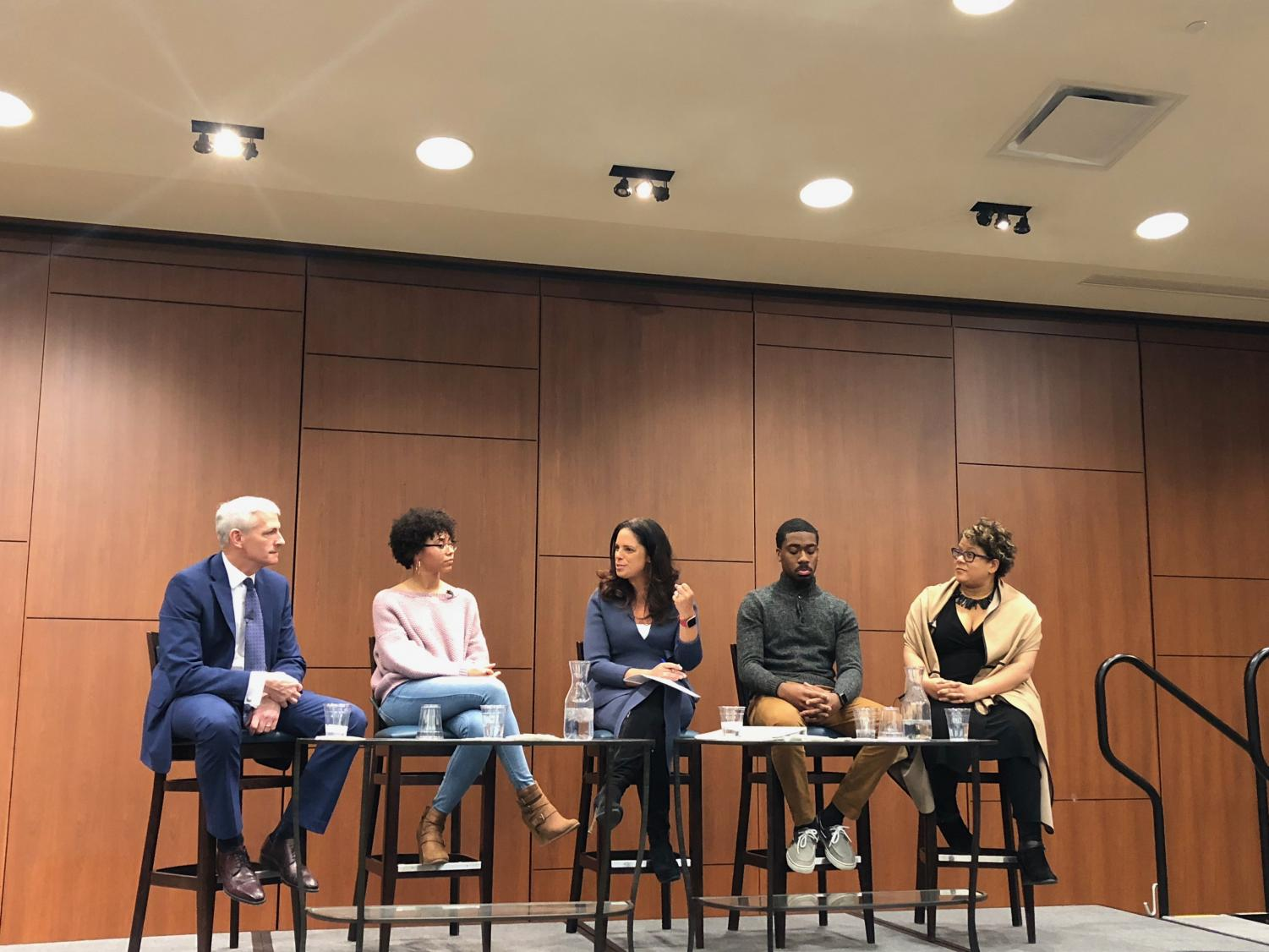 The panel discussed issues of race at the university.   Photo by Alex Garner
