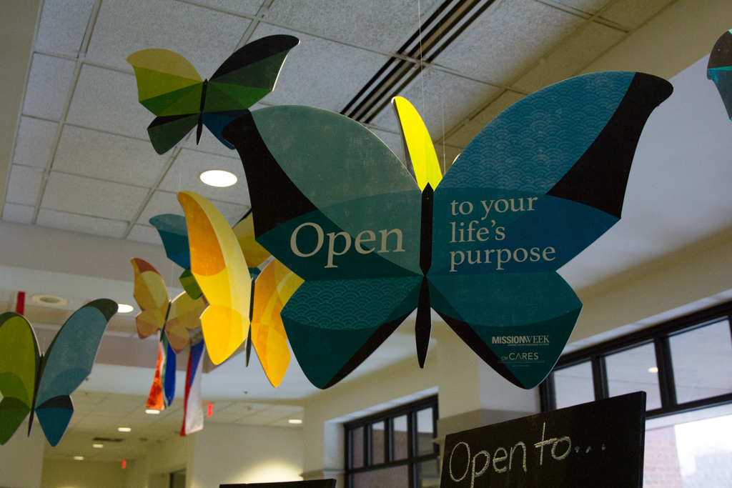 Marquette University celebrates its Mission Week with the symbol of butterflies which represents openness.