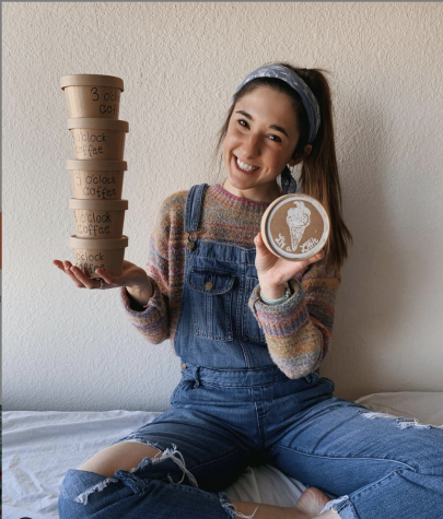 Olivia Menzia, a senior in the College of Communication, started her own vegan ice cream shop earlier this year.  Courtesy of Olivia Menzia