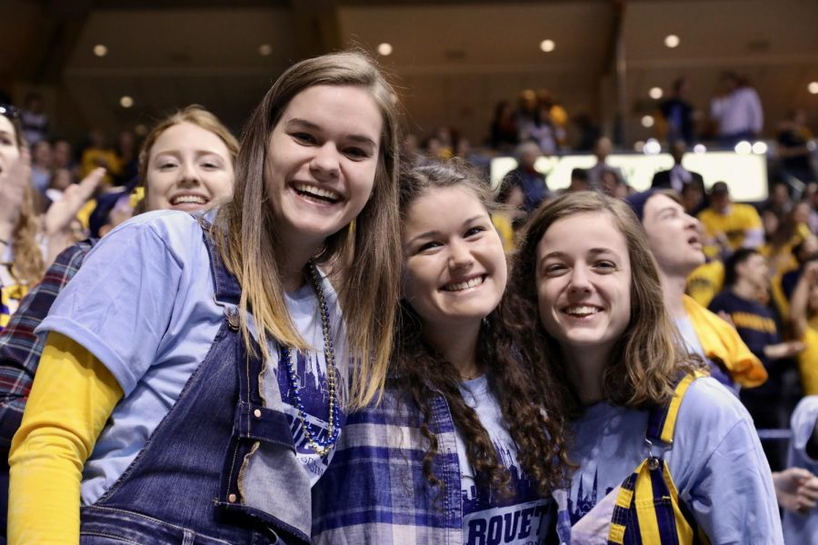 Fans celebrate National Marquette Day Feb. 3 as Marquette men's basketball hosted Providence. Wire stock photo.