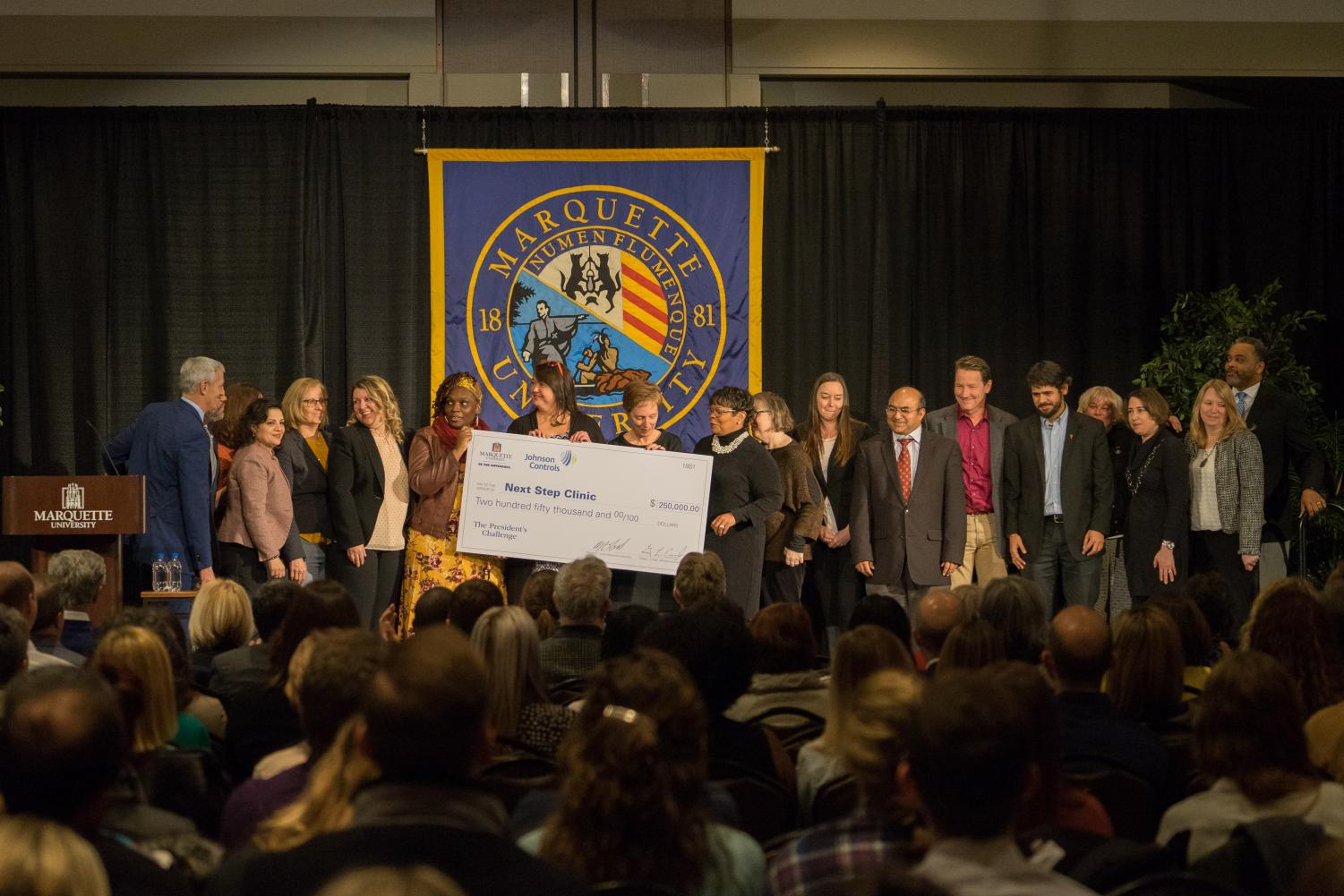 Amy Van Hecke and the Next Step Clinic were the winners of the President's challenge.
