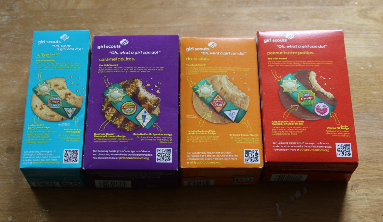 Girl Scout cookies vary from region to region based on their names, their appearances, their tastes and even their recipes. Two different companies make the cookies for all of the U.S.