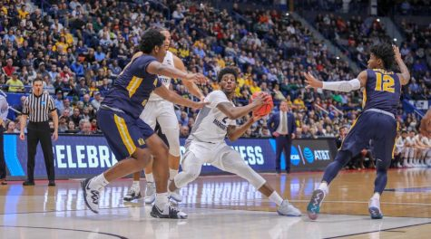Pirates blast MU in second half to complete season sweep